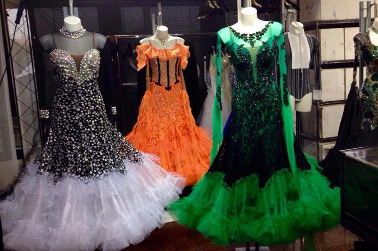 Ткани для платье бальных танцев